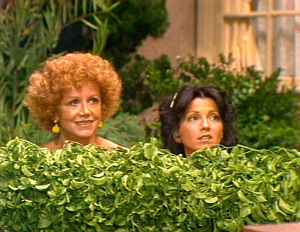 Three's Company Episode: Good Old Reliable Janet (in the bushes with Mrs. Roper)