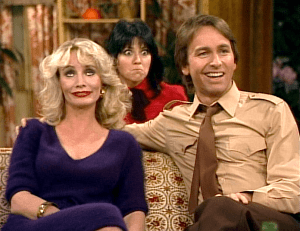 Three's Company Episode: Jack's Double Date (Janet behind couch)