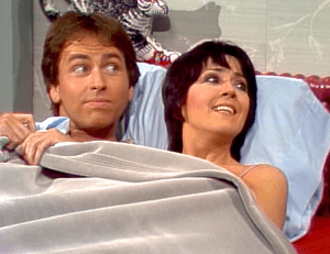 Three's Company Episode: Janet's Secret (Jack and Janet in bed, acting married)