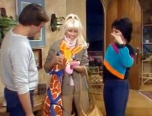 Three's Company Episode: The Root of All Evil (with Chrissy's stuffed giraffe)