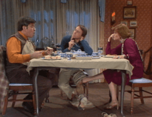 Three's Company Episode: Jack Moves Out (Playing footsies under the table)