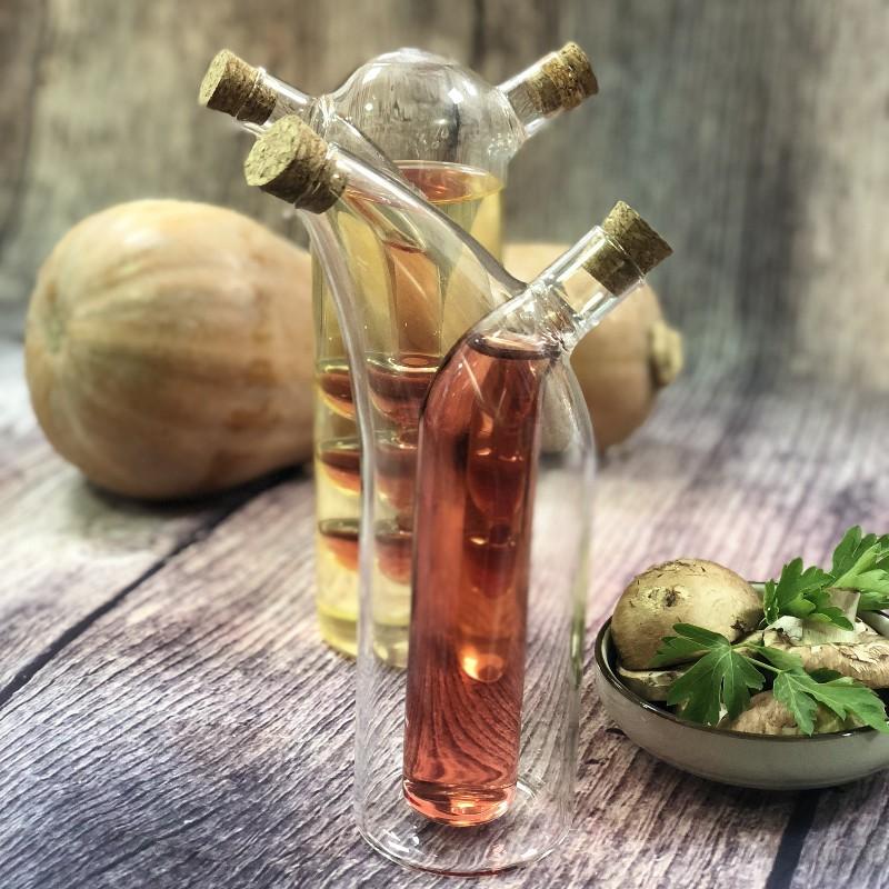 bouteille duo huile et vinaigre