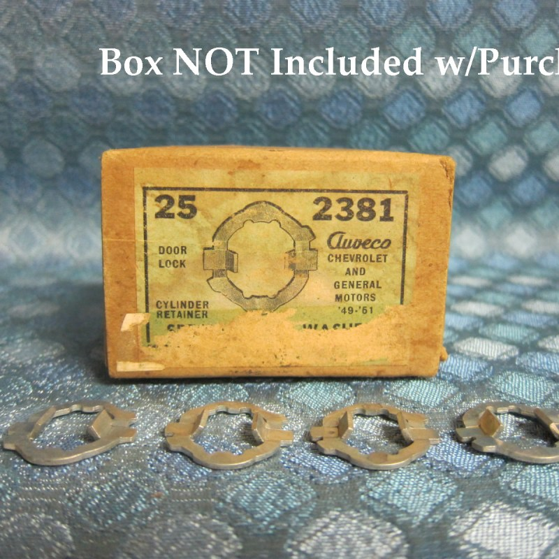 1949 50 51 Chevrolet Olds Pontiac Buick NORS Lot of 4 Door Lock Cyl. Washers