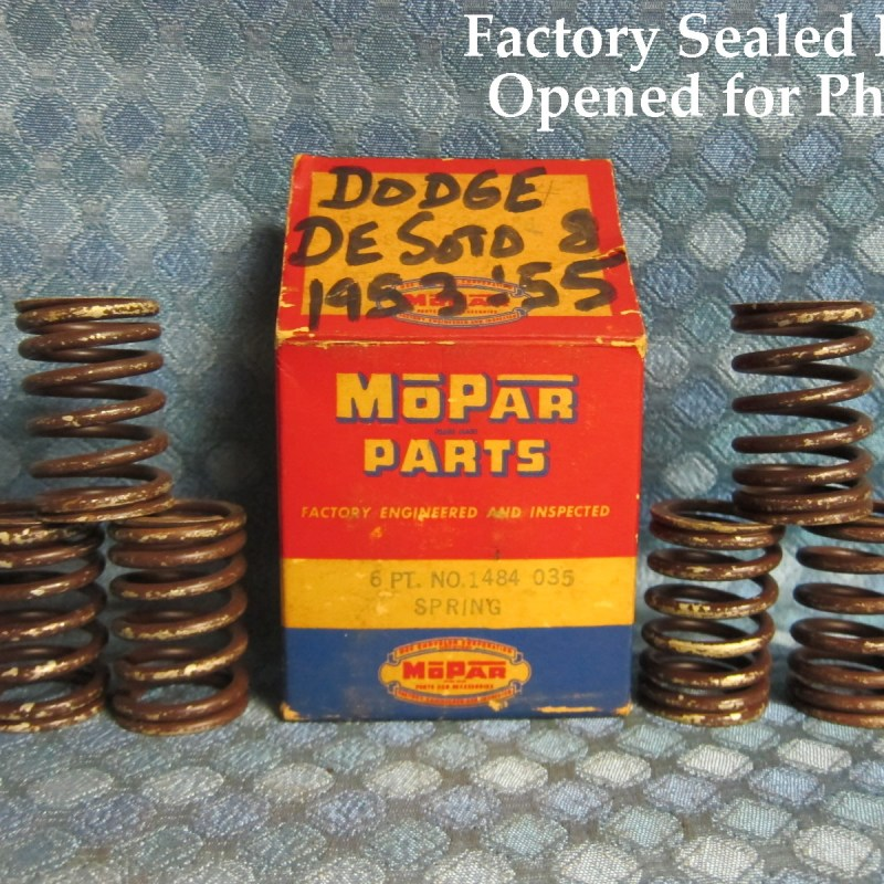 1953 54 55 Dodge DeSoto V8 NOS Mopar Box of 6 Outer Valve Springs SEE AD