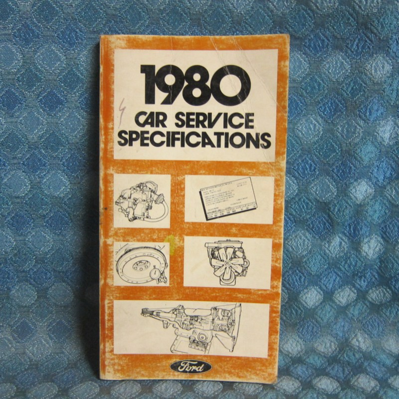 1980 Ford Lincoln Mercury Original Dealer Service Specifications Book