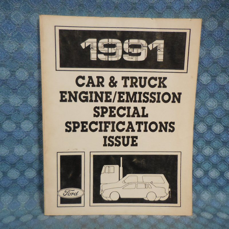 1991 Ford Lincoln Mercury Car Truck OEM Engine/Emissions Specifications Manual
