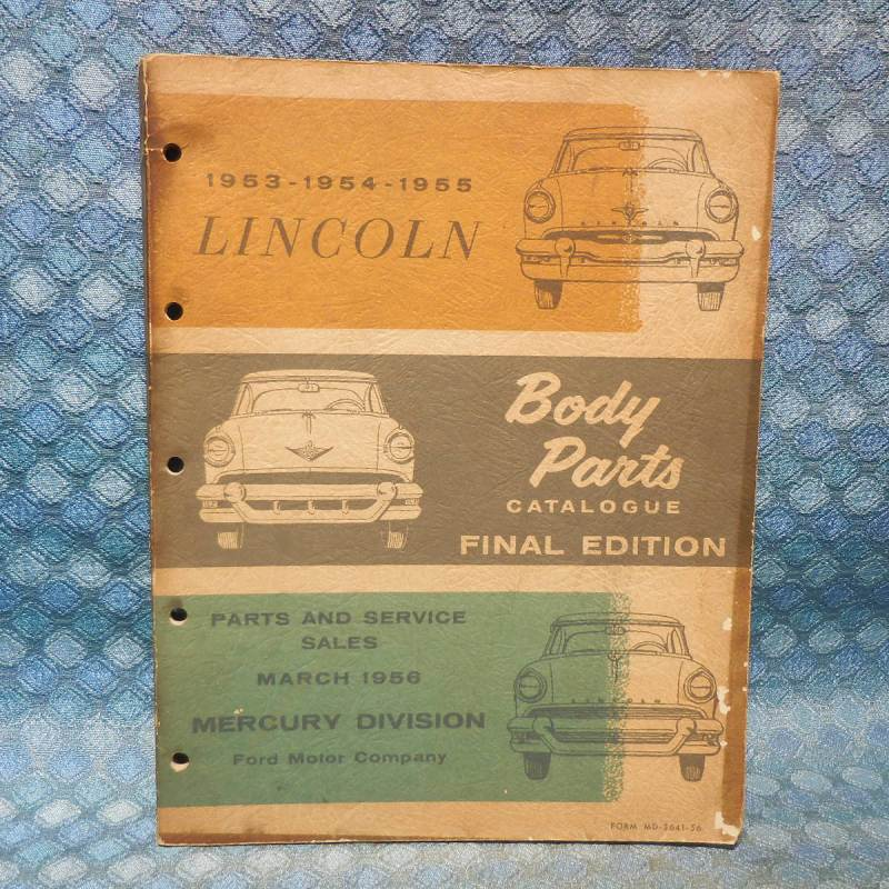 1953 1954 1955 Lincoln Original Body Parts Catalog