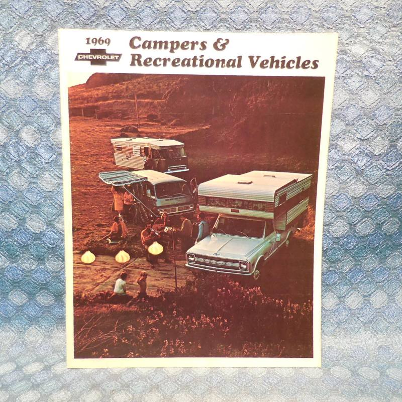1969 Chevrolet Campers & RV Original Sales Brochure Pickup Van Suburban Mtr Home