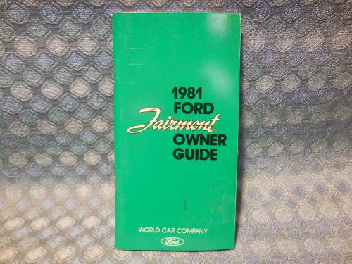 1981 Ford Fairmont NOS Owners Manual Guide