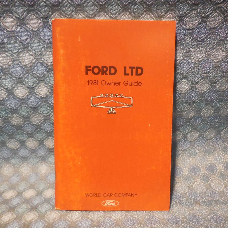 1981 Ford LTD NOS Owners Manual Guide