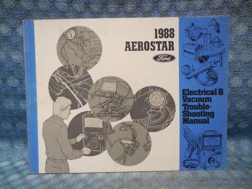 1988 Ford Aerostar Original Electrical & Vacuum Troubleshooting Manual