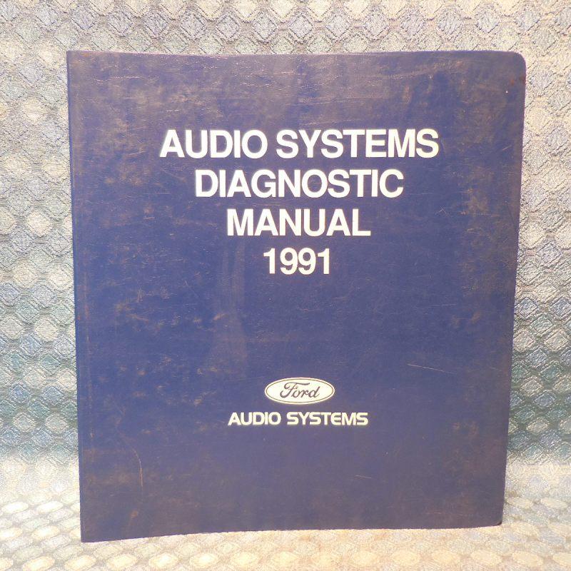 1991 Ford Lincoln Mercury Original Audio System Diagnostic Manual Car & Truck