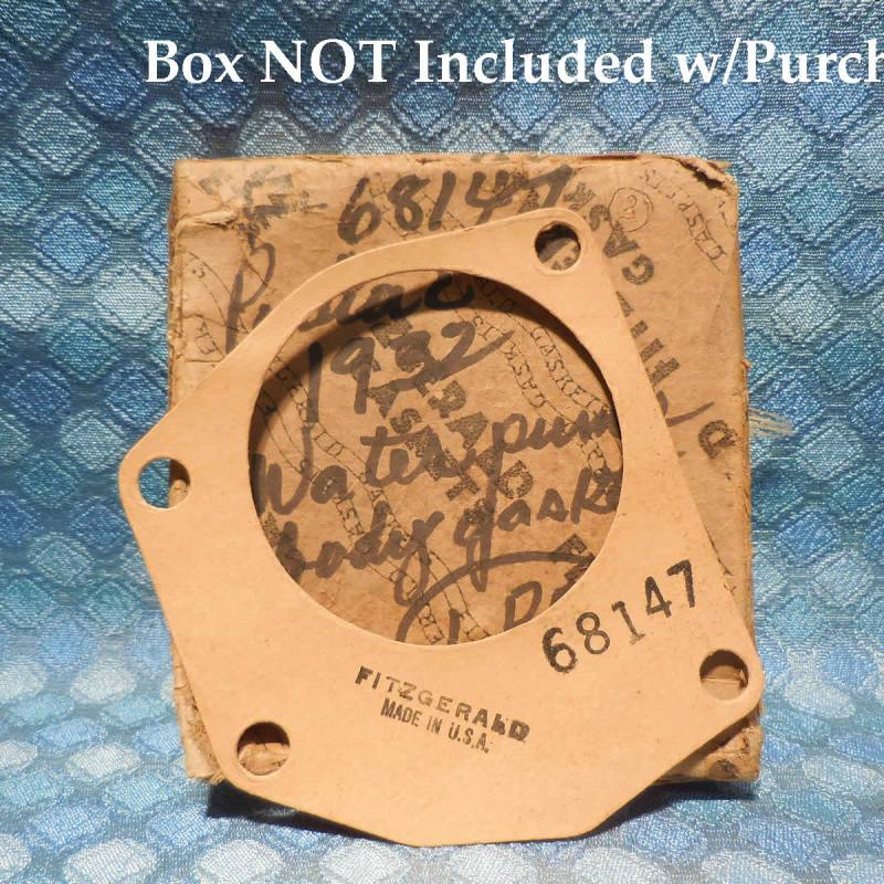 1932 Pontiac 6 Cyl NORS Water Pump Body Gasket