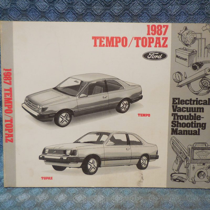 1987 Ford Tempo Mercury Topaz Orig. Electrical & Vacuum Troubleshooting Manual