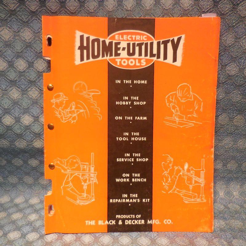 Circa 1947-1950 Home-Utility Original Tool Catalog with Dealer Price List