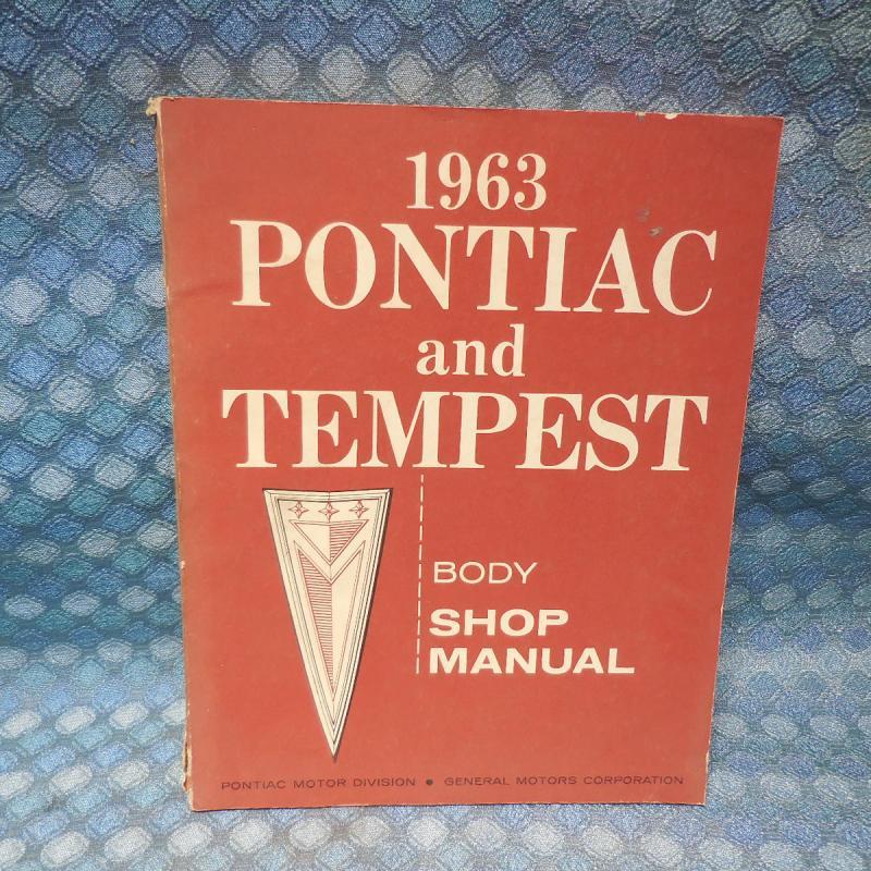 1962 Pontiac & Tempest Original OEM Body Shop Manual