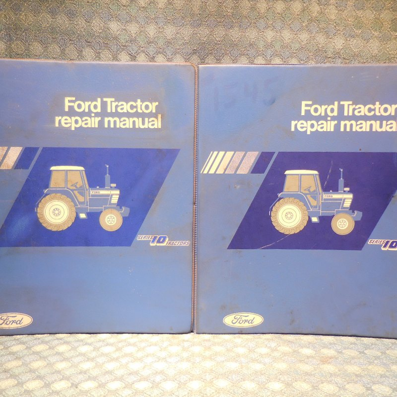 1981-1986 Ford Series 10 Tractor Original OEM Shop Repair Manuals 2 Volume Set