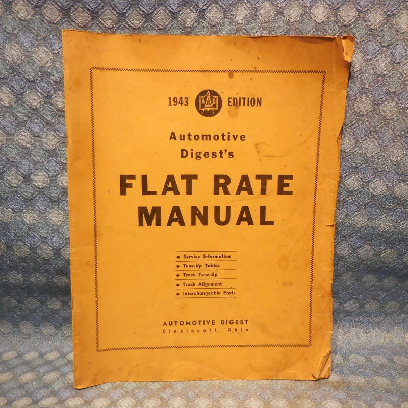 1937-42 Tune-Up Flat Rate & Service Manual GM Ford Chrysler Packard Hudson 39 40