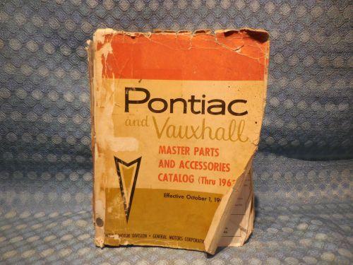 1946-1963 Pontiac Original Master Parts & Accessories Catalog 48 50 54 57 60 62