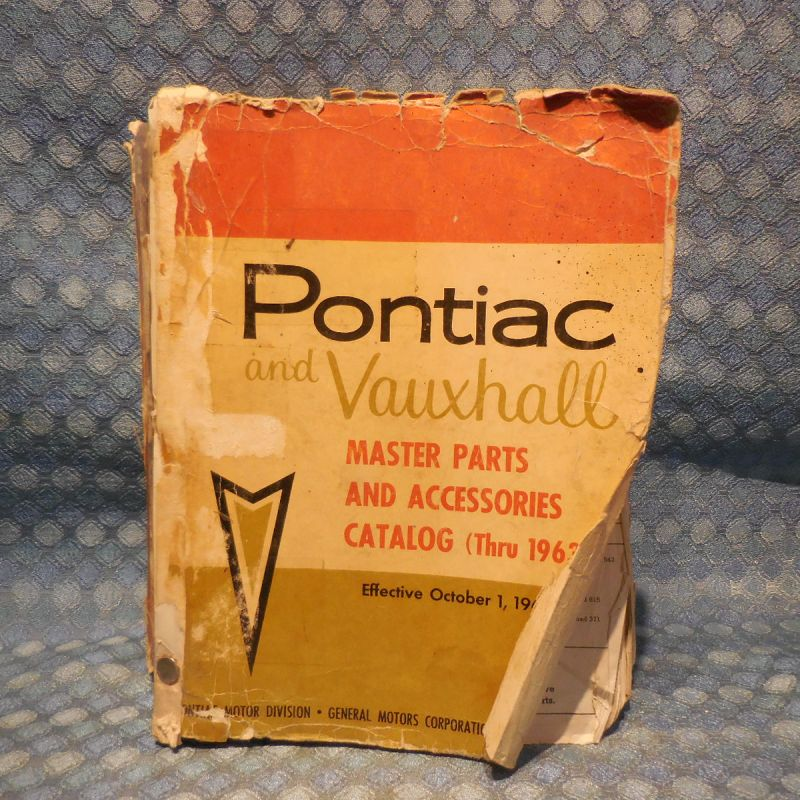 1946-1963 Pontiac Original Master Parts & Accessories Catalog 48 50 54 57 60 62