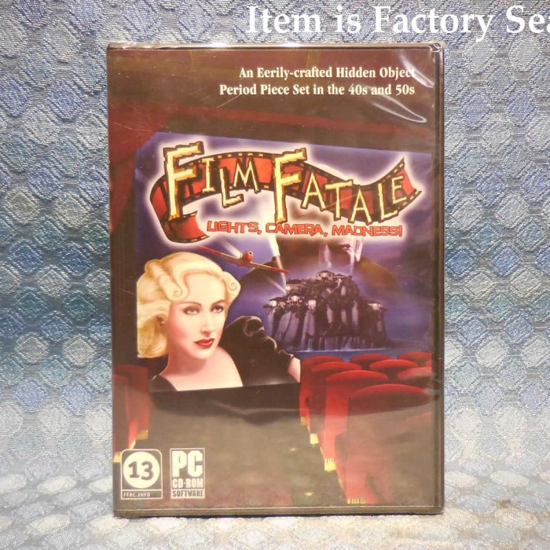 Film Fatale - Lights, Camera, Madness NEW PC CD-Rom Game Factory Sealed