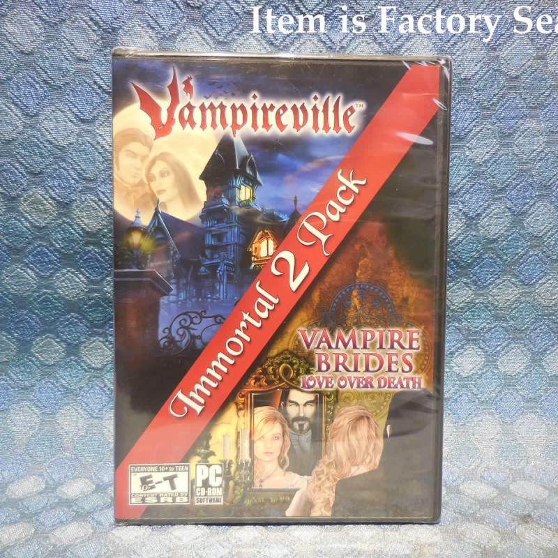 Vampireville & Vampire Brides Immortal 2 Pack NEW PC CD-Rom Game Factory Sealed