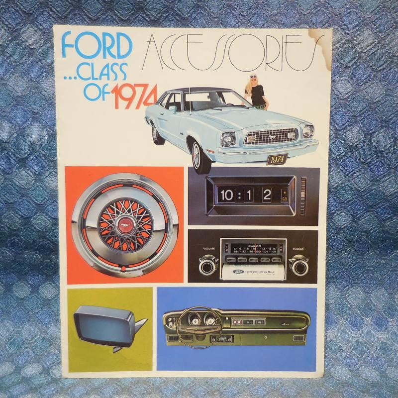 1974 Ford Car Original OEM Accessories Sales Brochure / Catalog
