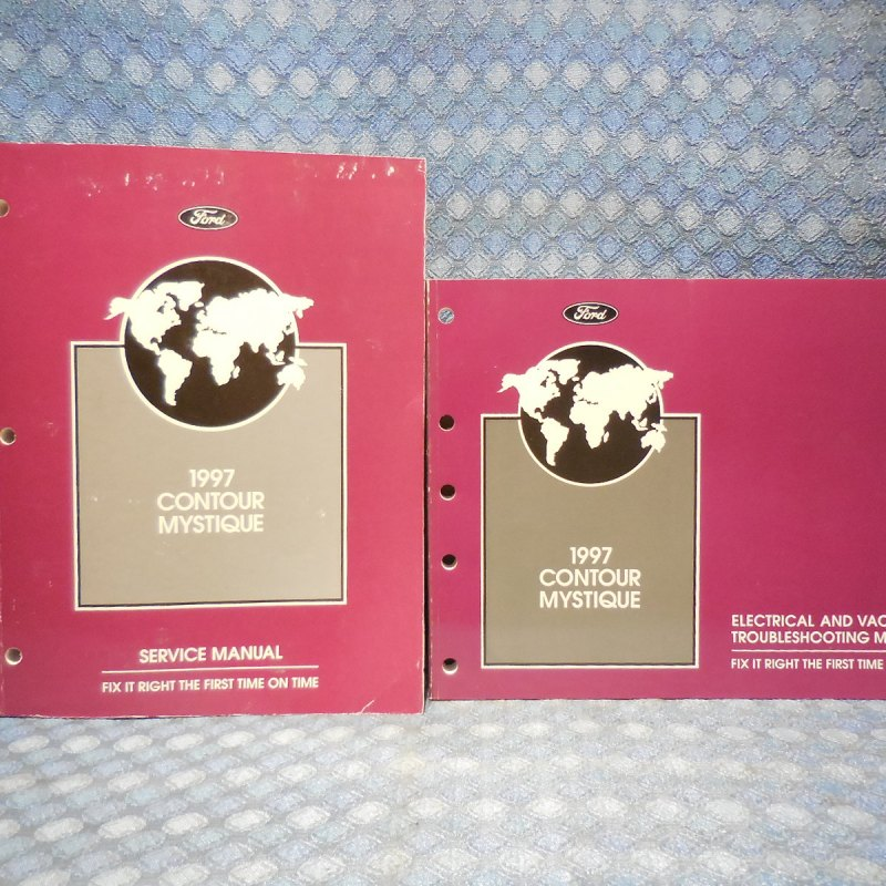 1997 Contour Mystique Service & Troubleshooting 2 Volume Set Original Manuals