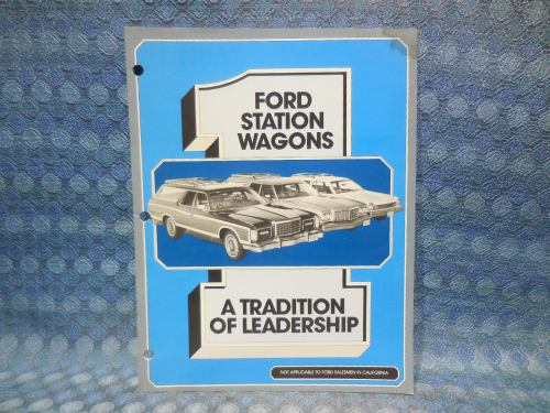 1976 Ford Station Wagons Salesmans Booklet with Chevrolet & Plymouth Comparison