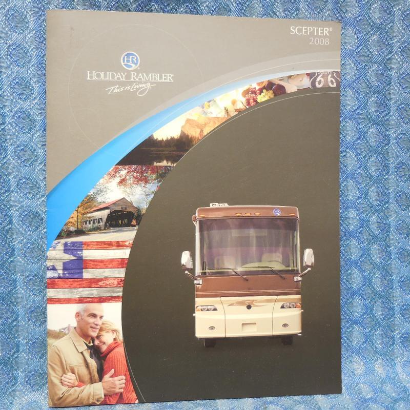2008 Holiday Rambler Scepter Motor Home Original Sales Brochure