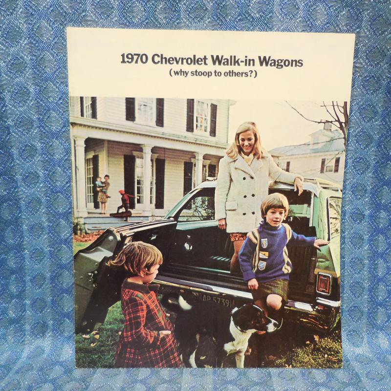 1970 Chevrolet Original Sales Brochure Walk-in Wagons Kingswood Brookwood