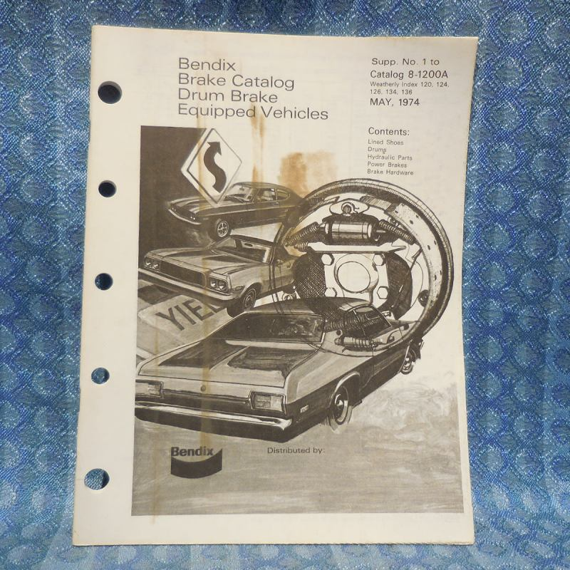 1973-1974 NOS Bendix Drum Brake Parts Catalog GM Ford Chrysler AMC VW Jeep