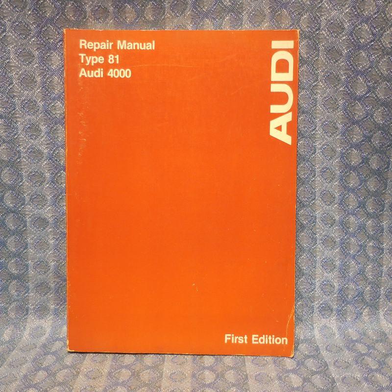 1979-1980 Audi 4000 Type 81 Original OEM Repair / Service Manual