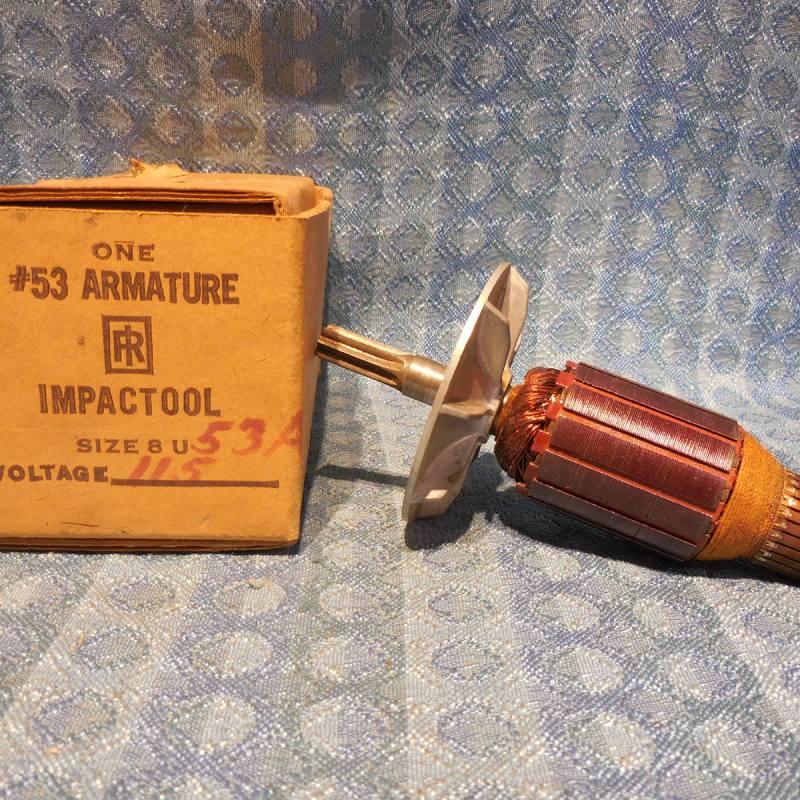 Ingersoll-Rand NOS Power Tool Armature #8U-53A 115 Volt