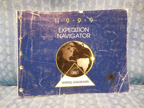 1999 Ford Expedition Lincoln Navigator Original OEM Shop Wiring Diagrams Manual