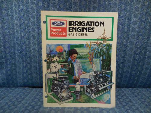 1980 Ford Power Products Gas & Diesel Irrigation Engine Original Sales Brochure