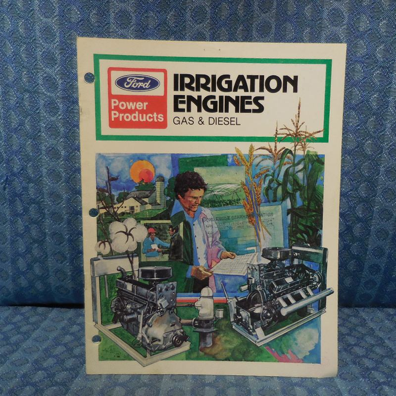 1980 Ford Power Products Gas & Diesel Irrigation Engine Original Sales Brochure