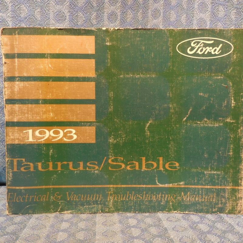 1993 Ford Taurus Mercury Sable OEM Electrical & Vacuum Troubleshooting Manual