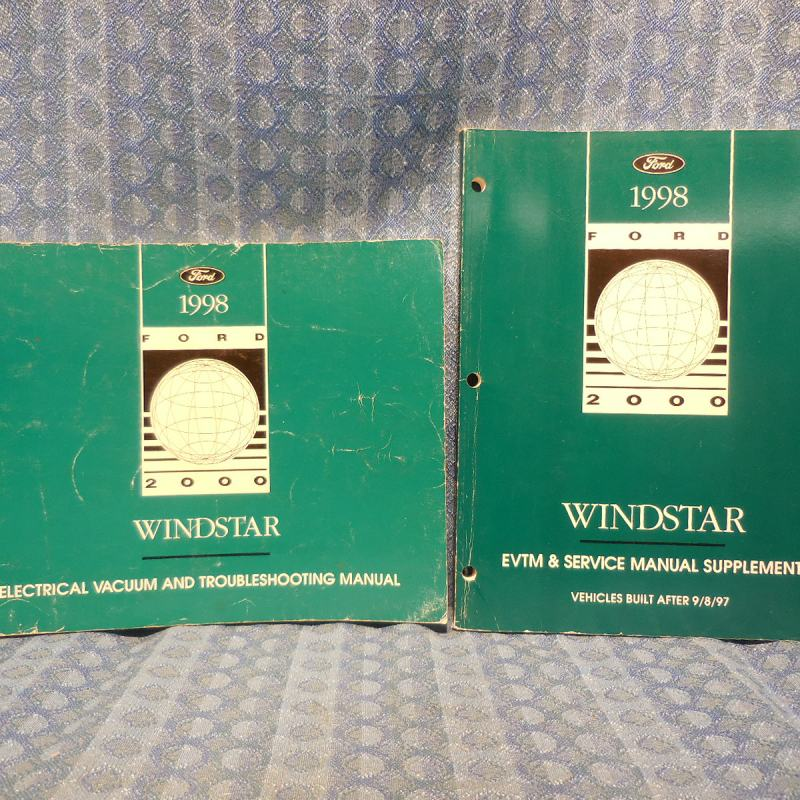 1998 Ford Windstar Original OEM Electrical Vacuum & Troubleshooting Manual 2 Vol
