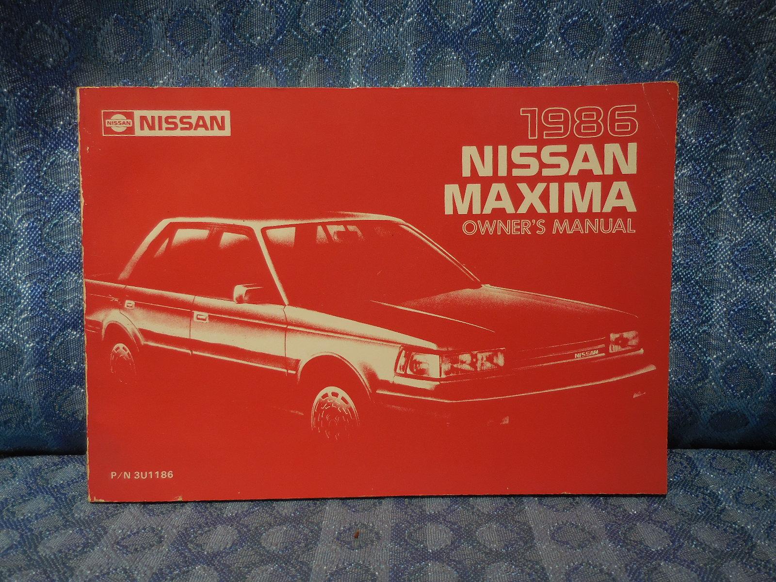 original owners manual for 1986 nissan maxima nos texas parts llc rh nostexasparts com 1985 Nissan Maxima Interior 1988 Nissan Maxima