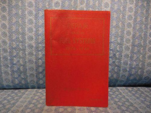 1938-1948 Ford Lincoln Mercury ORIGINAL Fuel System Repair Manual 39 40 41