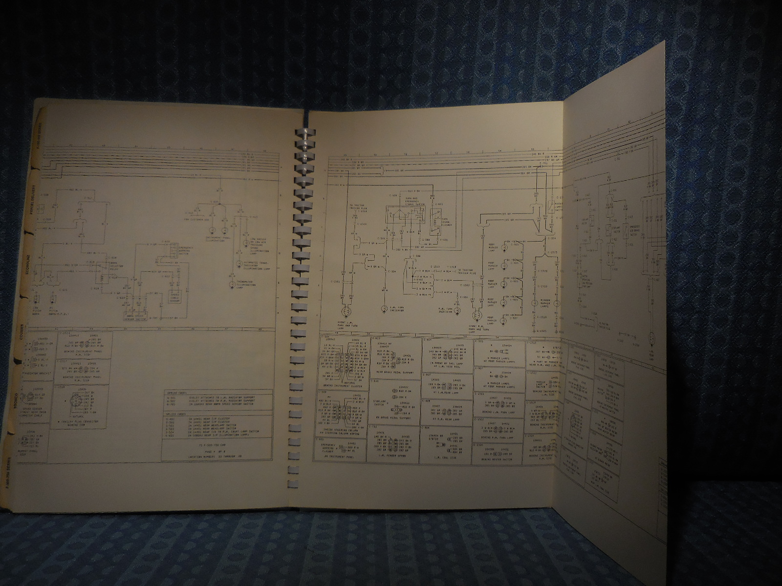 1975 Ford Truck Oem Wiring Diagrams Bronco  Pickup  Courier F-b-c-l-w-series