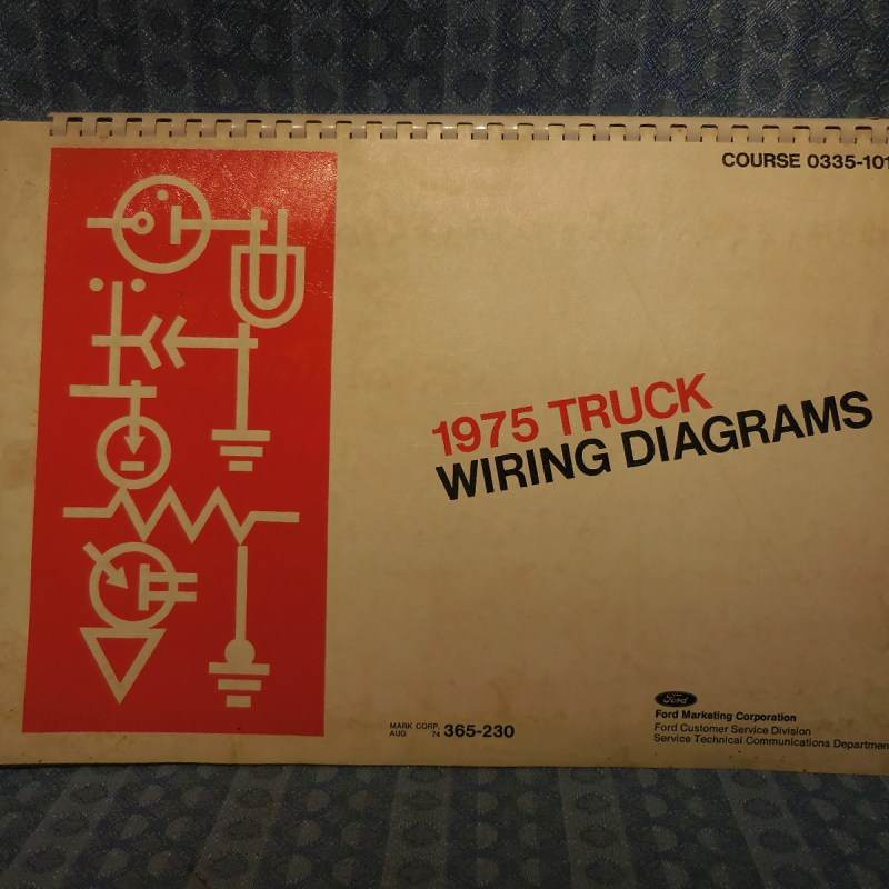 1975 Ford Truck OEM Wiring Diagrams Bronco, Pickup, Courier F-B-C-L-W-Series
