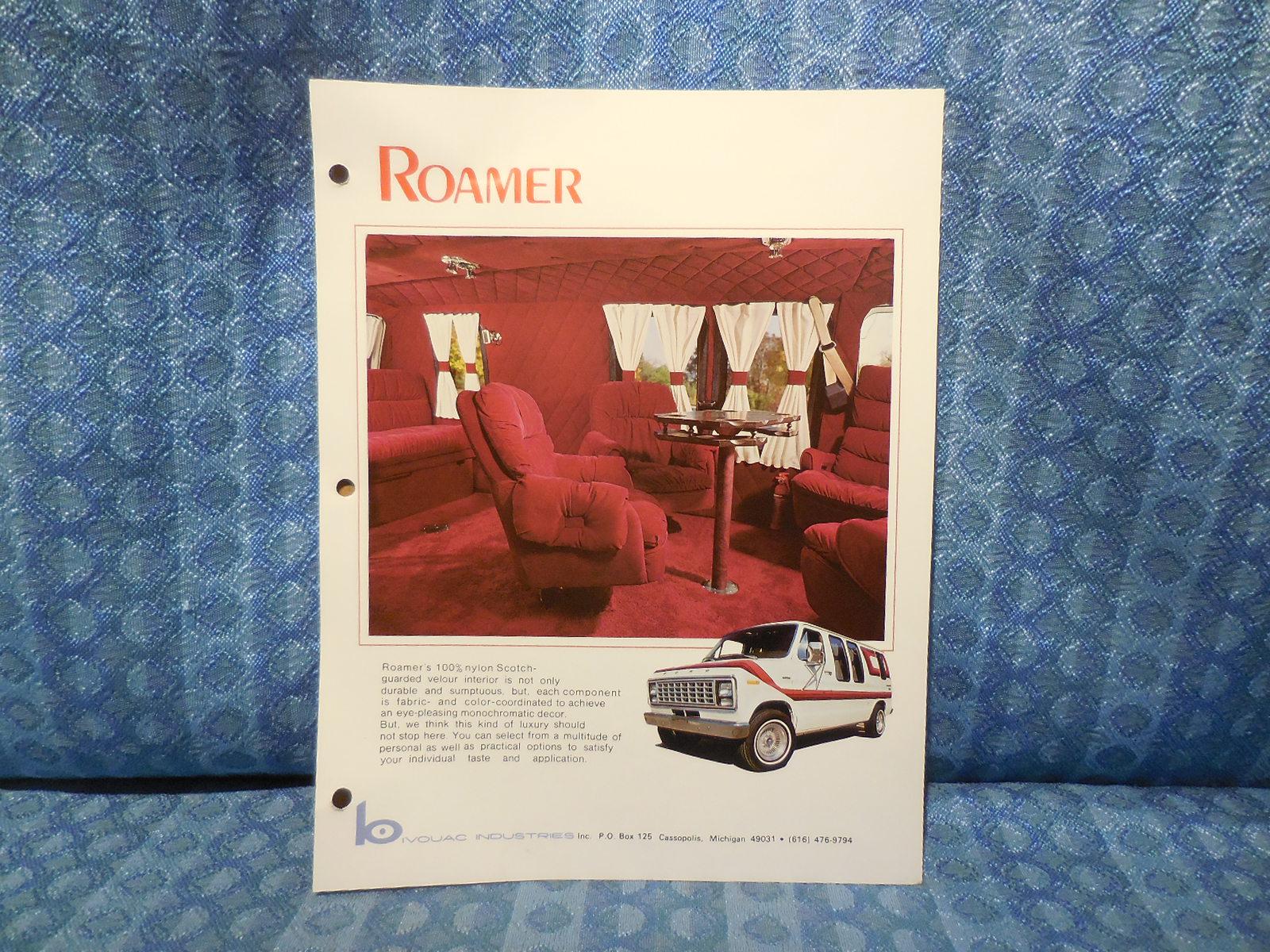 1979 Ford Conversion Van Original Sales Flyer Roamer by Bivouac Industries  - NOS Texas Parts, LLC - Antique Auto Parts