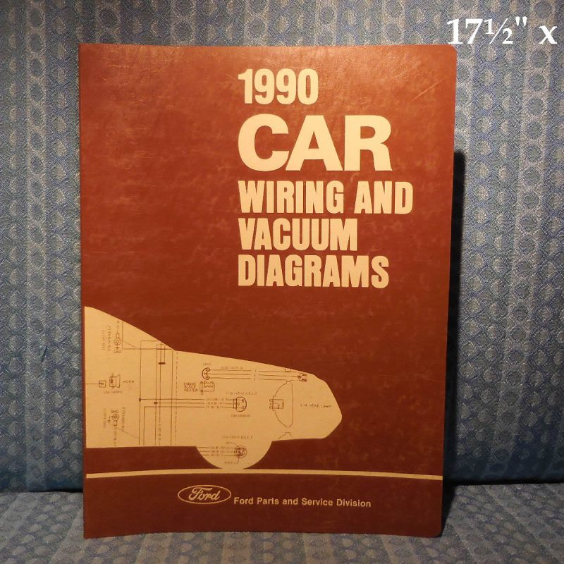 1990 Ford Lincoln Mercury OEM Wiring & Vacuum Diagrams Mark VII Mustang T-Bird