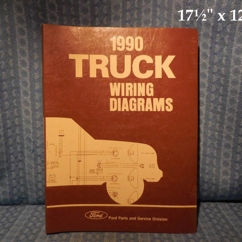 1990 Ford Truck OEM Wiring Diagrams F-Series Econoline Bronco CL-9000 L Series