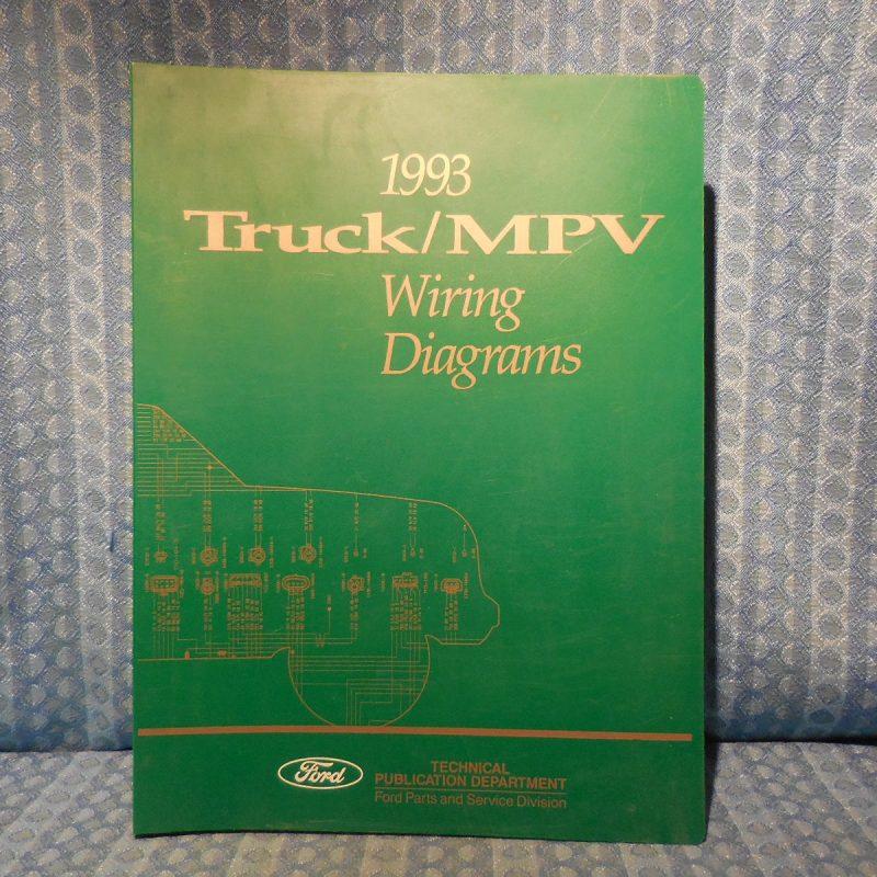 1993 Ford Truck OEM Wiring Diagrams F150-800 Ranger Econoline L Series Explorer