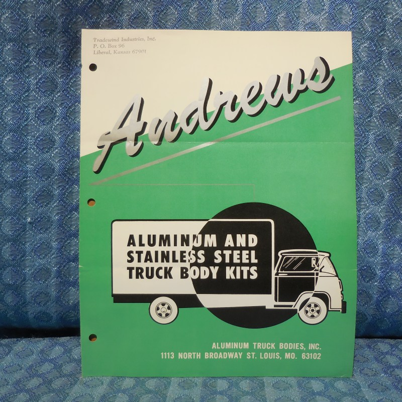 1962-1965 Andrews Truck Body Sales Brochure Chevrolet Ford International 1963 64