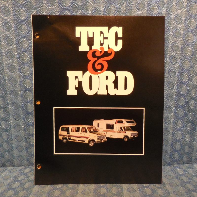 1979 CampMate & Travel Cruiser Mini Motorhome Original Sales Brochure Ford