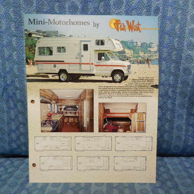 1979 Far West RV Mini Motorhome / Ford Original Sales Flyer